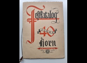 C4548/ Festkatalog 40 Jahre Horn am Stachus München 1895 -1935