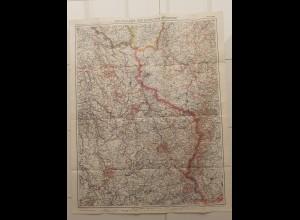 C4547/ Flemmings Spezialkarte Landkarte der südlichen Westfront 1917 1.Weltkrieg