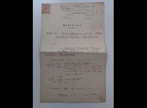C4556/ Kaufbrief Groherzogl. Amtsgericht Bad Nauheim 1894 mit Stempel-Marke