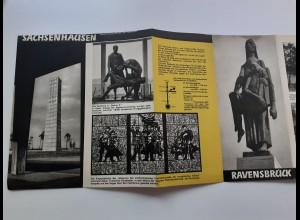 C4557/ Faltprospekt KZ Sachsenhausen Ravensbrück Buchenwald Mauthausen 1964