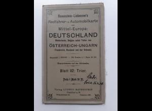 Y19946/ Ravenstein-Liebenow Rad-u. Automobilkarte Blatt 112 TRIER