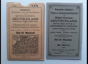 Y19950/ Ravenstein-Liebenow Rad-u. Automobilkarte Blatt83 Maastricht Niederlande