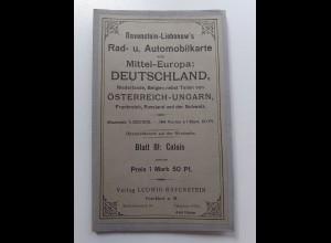 Y19948/ Ravenstein-Liebenow Rad-u. Automobilkarte Blatt 81 CALAIS Frankreich