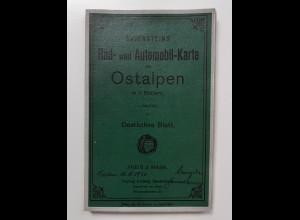 C4564/ Ravenstein Rad-u. Automobilkarte Ostalpen 1920 58 x 54 cm
