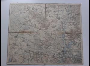 C4566/ E. Eisenschmidt Landkarte 268 Berlin Charlottenburg Spandau Nauen Ziethen