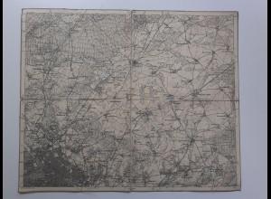C4565/ E. Eisenschmidt Landkarte 269 Berlin Bernau Landsberg Zühlsdorf 35 x 29
