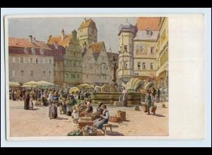 """W3E80/ Paul Hey AK """"Aus einer alten deutschen Stadt"""" ca.1914"""