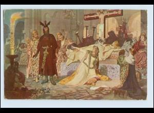 W4W52/ Criemhild an der Leiche Siegfrieds Künstler Ak Wagner 1916