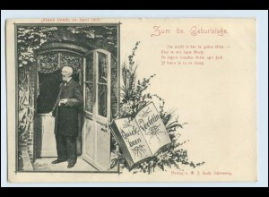 W3T85/ Klaus Groth zum 80. Geburtstag Schriftsteller AK 1899