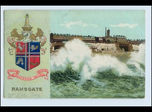 W3H08/ Ramsgate Wappen AK 1905