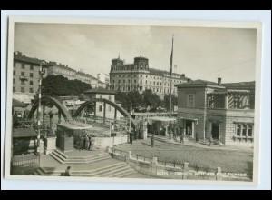 W3H41/ Susak Kroatien Le Pont Frontiere Grenze Foto AK 1937