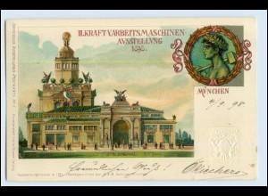 W3M83/ München Ausstellung Privatganzsache Litho AK 1898 PP15