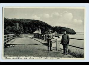 W3P84/ Deutsch-Dänische Grenze bei Flensburg AK 1933 Dänemark