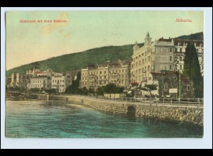 W3P42/ Abbazia Hotel Bellevue Kroatien AK 1908