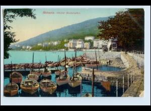 W3P43/ Abbazia Kleiner Bootshafen Kroatien AK ca.1910