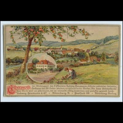W3S64/ Elbersroth L. Heumann & Co. Heilmittel Litho AK 1919