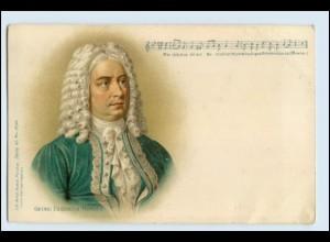 W3S30/ Friedrich Händel Komponisten Litho AK ca.1900