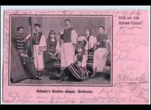 W3T51/ Urbany`s Österr.-Ungar. Orchester Zigeuner-Konzert AK 1903