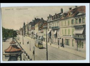 W3T39/ Colmar i. Elsaß Rufacherstr. Straßenbahn AK 1911