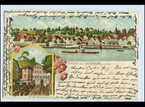 Y15724/ Gruß aus Lauenburg a.d. Elbe Litho AK ca.1900