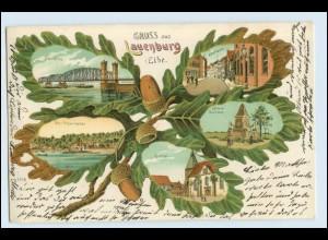 A1480/ Lauenburg Gruß aus Lauenburg Kleeblatt ca.1900 Litho AK