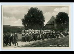 W3U51/ Schappelzug im Schwarzwald Foto AK Trachten 1941