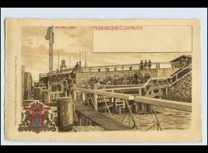 W3U12/ Cuxhaven Litho AK Wappen ca.1900