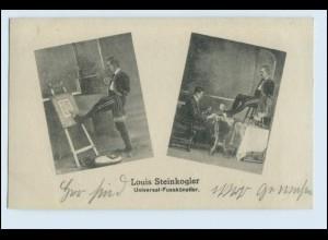 W5L54/ Louis Steinkogler Universal-Fußkünstler AK ca.1920 Variete