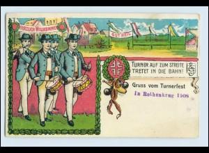 W5R46/ Gruß vom Turnerfest Litho AK Turnen Sport ca.1910