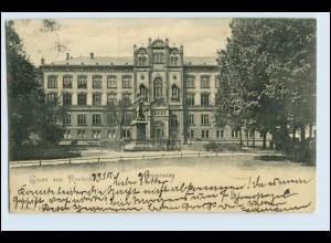 A1824/ Gruß aus Rostock Universität AK 1901