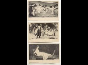 W5C57/ 3 x Künstler AK Verlag: Theo Stroefer 1900