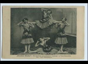 W5A69/ Dresden AK Dresdner-Londer Akrobaten-Ensemble AK 1908