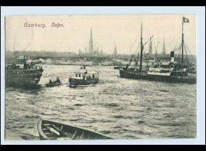 W5A93/ Hamburg Hafen Schiffe schöne AK 1907