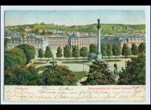 W5D01/ Stuttgart schöne Reliefdruck AK 1905