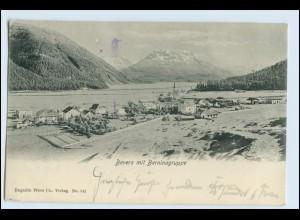 W5F81/ Bevers mit Berninagruppe AK 1912