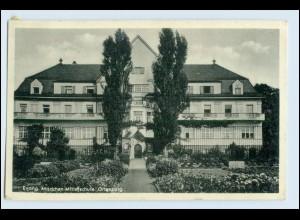 W5E42/ Ortenburg Evang. Mädchen Mittelschule AK 1951