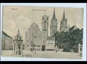 W5D42/ Oschatz Neumarkt und Rathaus AK ca.1910
