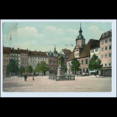 W5D28/ Jena Markt Rathaus Brunnen AK 1914