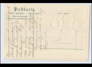 A1004/ Bremen Freihafen schöne Wappen Litho Prägedruck AK 1906