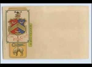 A1056/ Bradford Wappen Litho Prägedruck AK ca.1900 Raphael Tuck`s