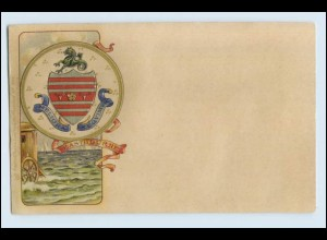 A1054/ Eastbourne Wappen Litho Prägedruck AK ca.1900 Raphael Tuck`s