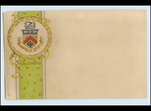 A1055/ Cheltenham Wappen Litho Prägedruck AK ca.1900 Raphael Tuck`s