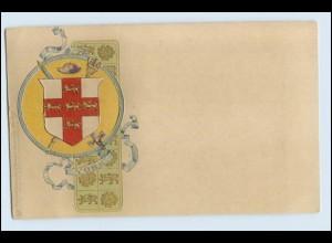 A1058/ York Wappen Litho Prägedruck AK ca.1900 Raphael Tuck`s