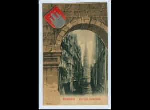N5933/ Hamburg Altstadt Steckelhörn Knackstedt & Näther AK Wappen 1905