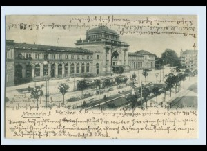 W5L57/ Mannheim Straßenbahn schöne AK 1905