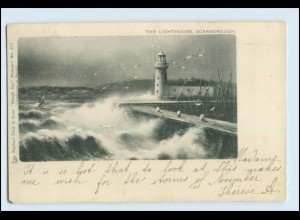 W5M34/ Leuchtturm Scaborough AK 1910 Lighthouse
