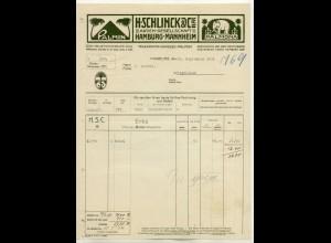 c505/ Rechnung H. Schlinck & Cie. Palmin Palmona 1913 Margarine