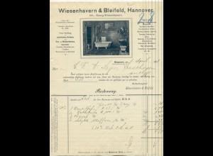 c503/ Rechnung Wiesenhavern & Bleifeld, Hannover Gas- und Wasser 1908