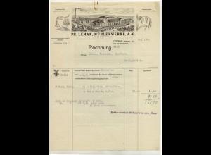 c487/ Rechnung Ph. Lehman Mühlenwerke Eystrup (Weser) 1930