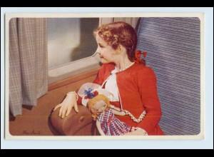 W5P08/ American Airlines Flagship Mädchen mit Puppe AK ca.1950 Flugzeug